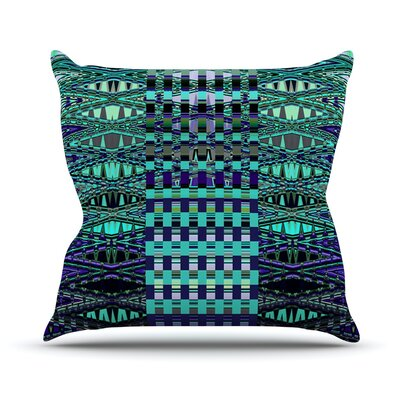 New Kilim Seafoam Throw Pillow Size: 18 H x 18 W