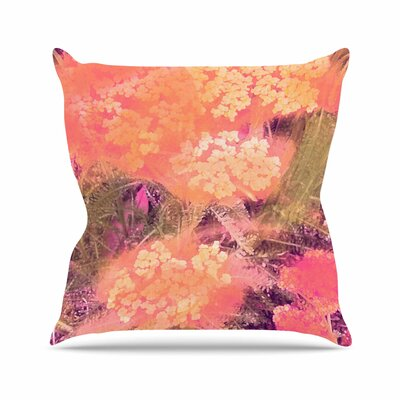 Wildflowers Throw Pillow Size: 16 H x 16 W, Color: Yellow