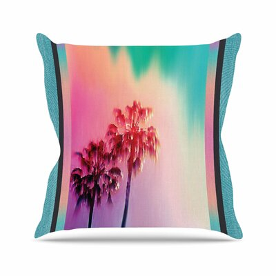 LA Rainbow Throw Pillow Size: 26 H x 26 W