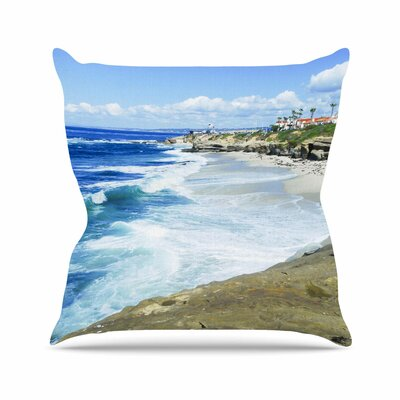 Beach Playground Throw Pillow Size: 18 H x 18 W