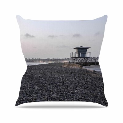Lifeguard on The Rocks Throw Pillow Size: 18 H x 18 W