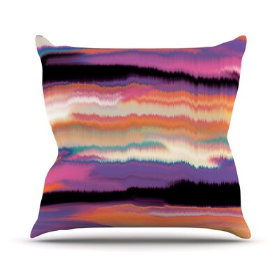 Artika Throw Pillow Color: Sunset, Size: 26'' H x 26'' W