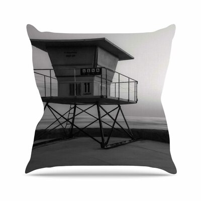 Lifeguard Station at Dusk Throw Pillow Size: 18 H x 18 W