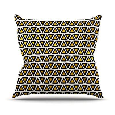 Aztec Triangles Gold Throw Pillow Size: 18 H x 18 W