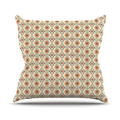 Floral Throw Pillow Size: 18 H x 18 W, Color: Peach
