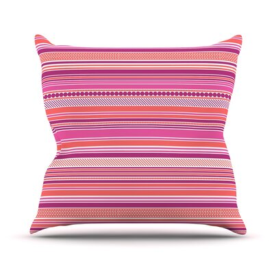 Pink Ribbons Throw Pillow Size: 18 H x 18 W