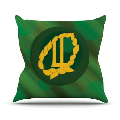 Jupiter Throw Pillow Size: 18 H x 18 W