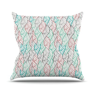 Ethnic Leaves Throw Pillow Size: 18 H x 18 W