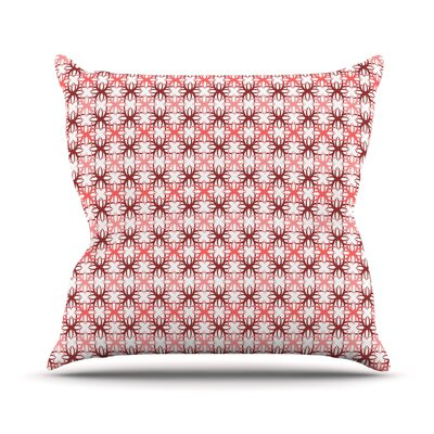 Motifs Throw Pillow Size: 16 H x 16 W, Color: Pink
