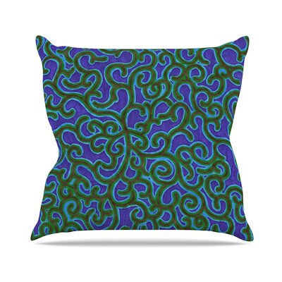 Swirling Vines Throw Pillow Size: 18 H x 18 W