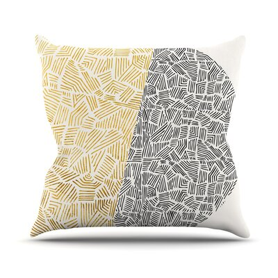 Inca Day and Night Throw Pillow Size: 18 H x 18 W