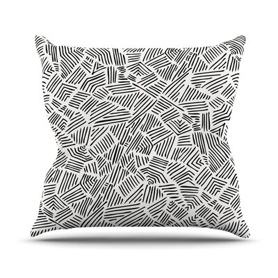 Inca Lines Throw Pillow Size: 18 H x 18 W