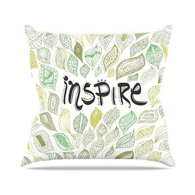 Inspire Nature Throw Pillow Size: 18 H x 18 W