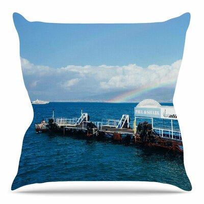 Rainbow Pier Throw Pillow Size: 18