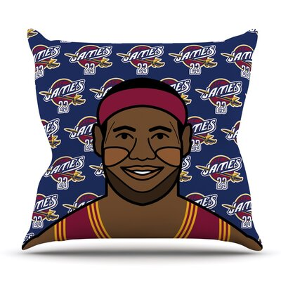 Lebron James Throw Pillow Size: 16 H x 16 W x 3 D