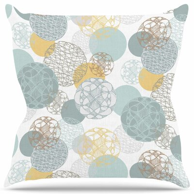 Floating Circles Design Throw Pillow Size: 18 H x 18 W
