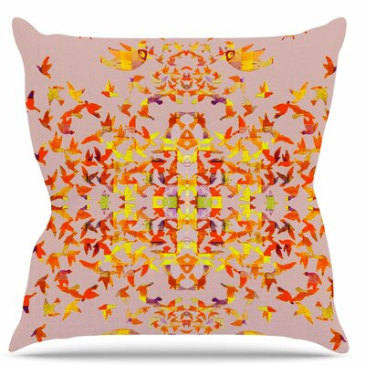 Flying Birds Throw Pillow Size: 16 H x 16 W