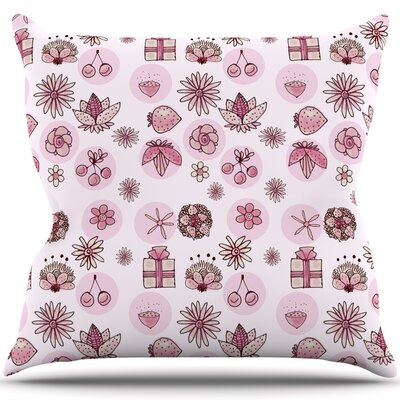 Cute Stuff Throw Pillow Size: 26 H x 26 W