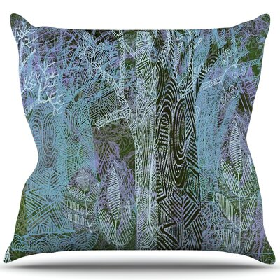 Wild Forest Throw Pillow Size: 18 H x 18 W