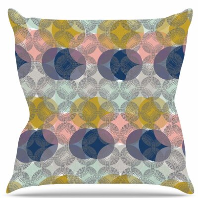 Retro Spring Throw Pillow Size: 18 H x 18 W