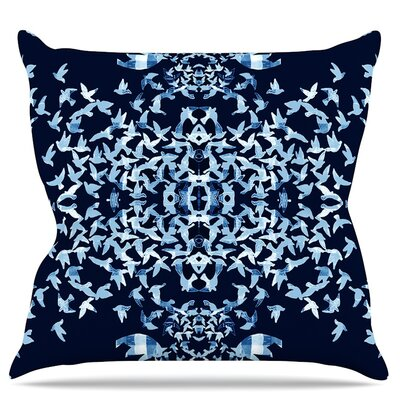 Night Birds Throw Pillow Size: 26 H x 26 W