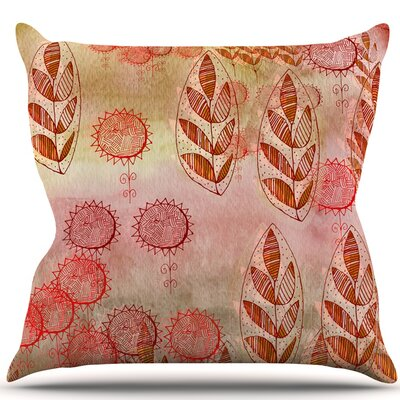 Summer Music Throw Pillow Size: 16 H x 16 W