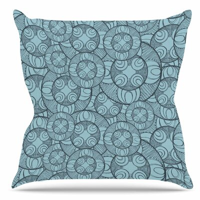 Layered Circles Design Throw Pillow Size: 16 H x 16 W