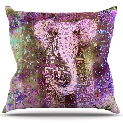 Pink Dust Magic Throw Pillow Size: 16 H x 16 W