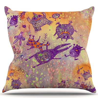 Levitating Monsters Throw Pillow Size: 18 H x 18 W