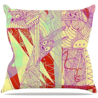 Bunny Land Throw Pillow Size: 16 H x 16 W