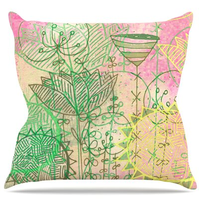 Pink Dream Throw Pillow Size: 18 H x 18 W