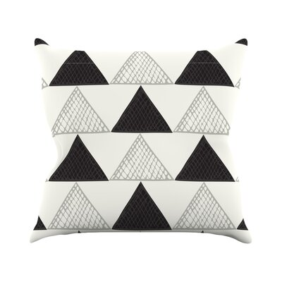 Textured Triangles Abstract Throw Pillow Size: 18 H x 18 W x 3 D