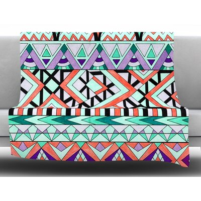 Tribal Invasion Fleece Throw Blanket Size: 60 L x 50 W