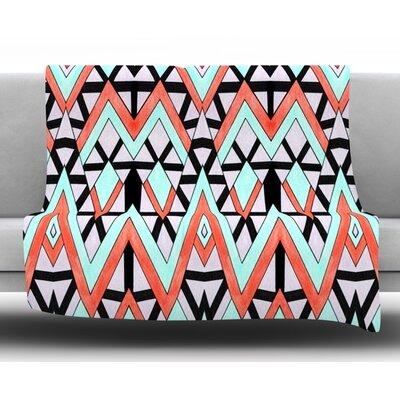 Geometric Mountains Fleece Throw Blanket Size: 80 L x 60 W