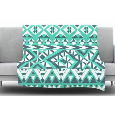 Tribal Simplicity Fleece Throw Blanket Size: 60 L x 50 W