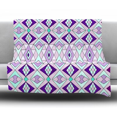 Geometric Flow Fleece Throw Blanket Size: 60 L x 50 W