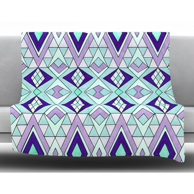 Gems Fleece Throw Blanket Size: 60 L x 50 W