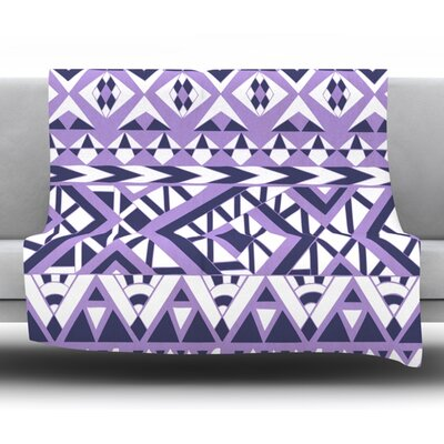 Tribal Simplicity II Fleece Throw Blanket Size: 60 L x 50 W