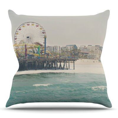The Pier at Santa Monica by Laura Evans Throw Pillow Size: 20