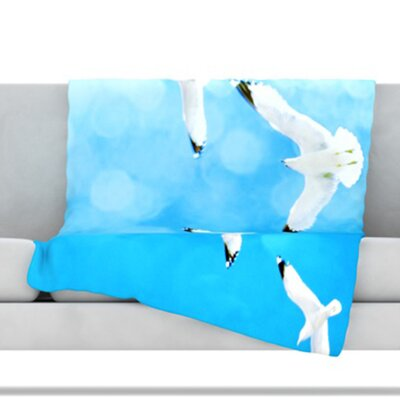 Fly Free Fleece Throw Blanket Size: 40'' L x 30'' W