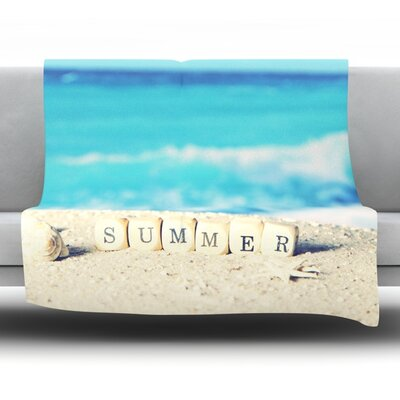 Summer at the Beach Fleece Throw Blanket Size: 60 L x 50 W