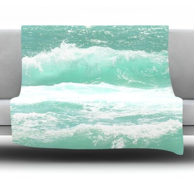 Maui Waves Fleece Throw Blanket Size: 40 L x 30 W