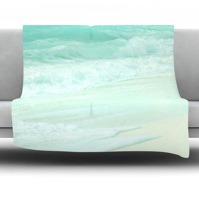 Paradise Beach Fleece Throw Blanket Size: 60 L x 50 W