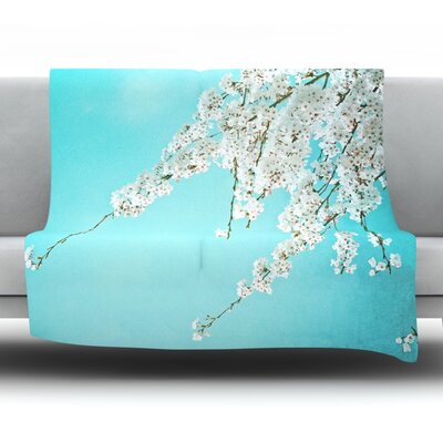 Hanami Fleece Throw Blanket Size: 60 L x 50 W
