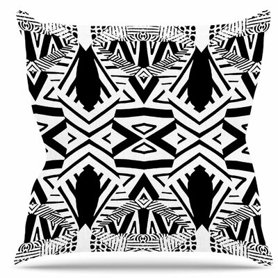 Ocean Retro Vibes Throw Pillow Size: 18 H x 18 W
