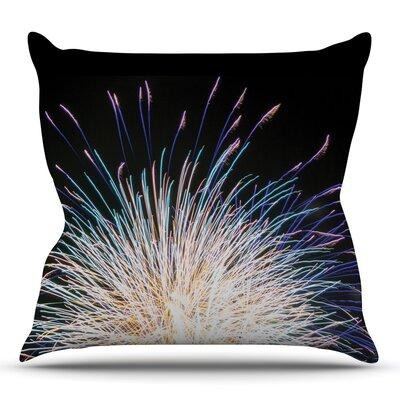 Firework Throw Pillow Size: 18'' H x 18'' W x 3