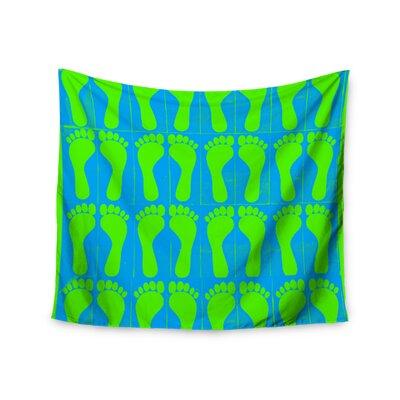 """KESS InHouse """"Footprints Green"""" by Sreetama Ray Wall Tapestry SR1022BWT01"""
