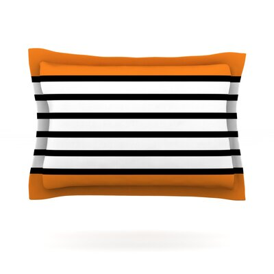 Sest Redaka by Trebam Woven Pillow Sham Size: Queen, Color: Orange/Tangerine