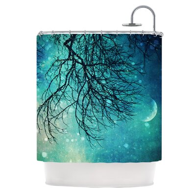 Winter Moon Polyester Shower Curtain