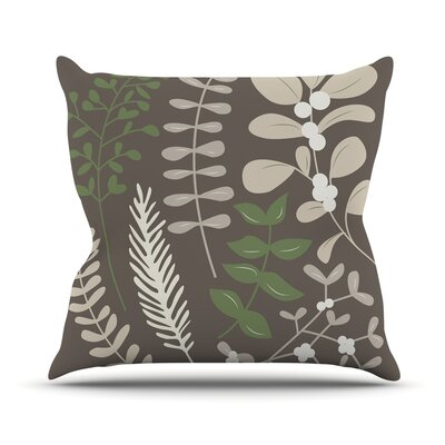 Deck the Hollies Throw Pillow Size: 16 H x 16 W x 3 D, Color: Brown